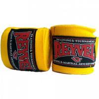 Бинты боксерские с эластаном Reyvel 4 метра желтые