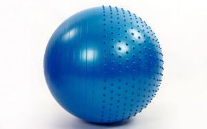 Мяч для фитнеса полумассажный 75 см